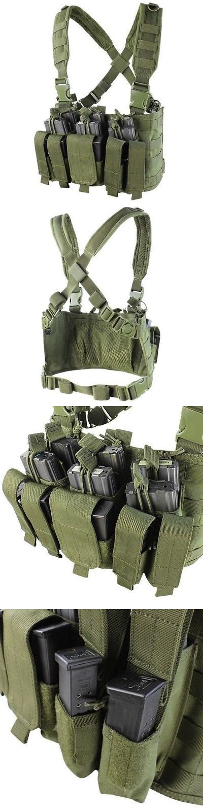 Chest Rigs and Tactical Vests 177891: Condor Mcr5 Recon Molle Chest Rig Od Harness Holds 8 Ar-15 Rifle And 6 Pistol Mags -> BUY IT NOW ONLY: $35.95 on eBay!