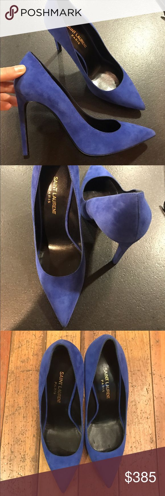 NEW! Auth YSL blue suede Pumps sz 38.5/8.5 $895 NEW AUTH YSL SUEDE COBALT blue Pumps sz 38.5/8.5 in excellent new condition! For price offer email lana_egorova@aim.com Saint Laurent Shoes Heels