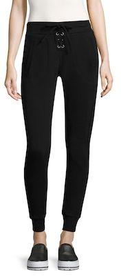 Betsey Johnson Lace-Up Cotton Sweatpants
