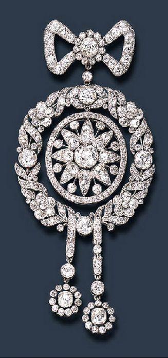 A BELLE EPOQUE DIAMOND BROOCH BY CARTIER (circa 1908)