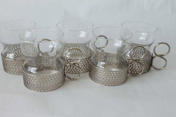 Tsaikka Tea Glasses Timo Sarpaneva  1957  Iittala by EarthsTrove, $125.99