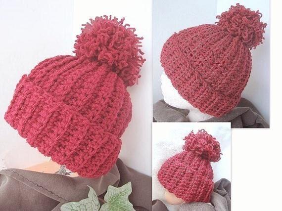 crochet pattern hat,  num 49  Crochet for Beginners.UNISEX TOUQUE. no fail, men , womens, teens, childrens. $4.99, via Etsy.