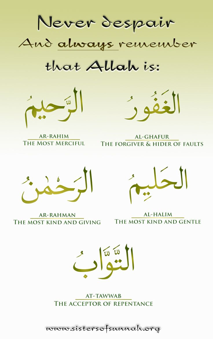 Muslims should Never despair because they have Allah. ♥