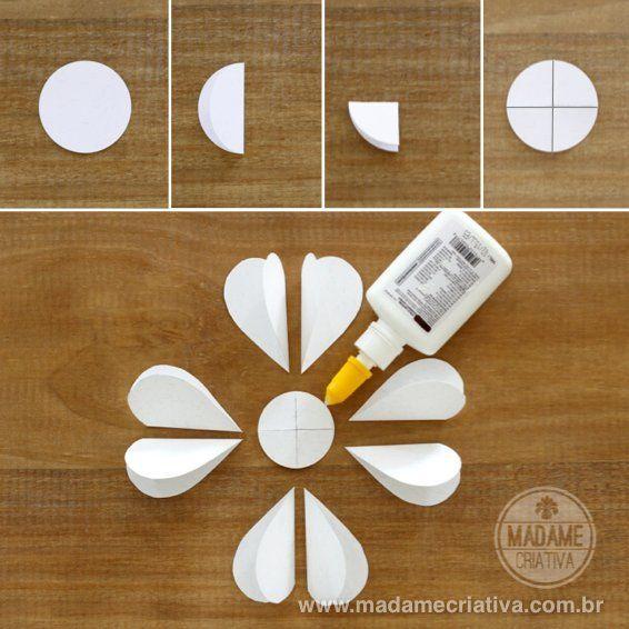 Wie man 8 Herzen Papierblumen macht – DIY Tutorial – Wie man Papierherzen …