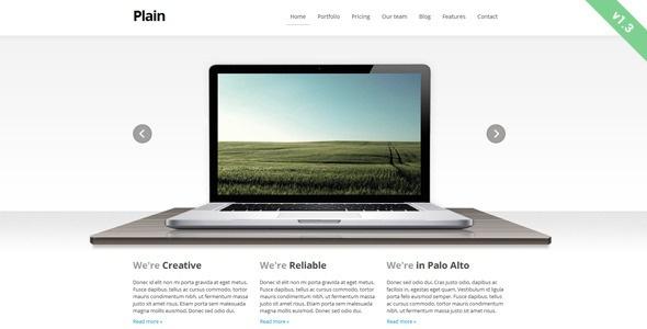 Plain - ThemeForest Item for Sale