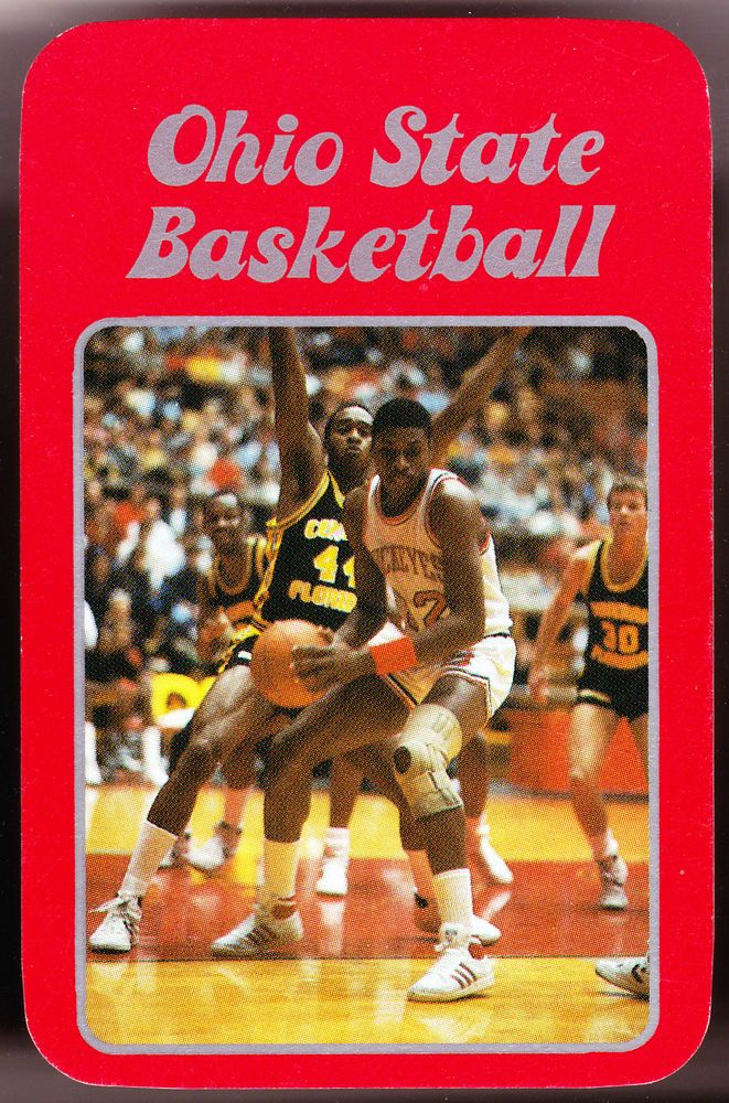 1985-86 OHIO STATE BUCKEYES MENS BASKETBALL POCKET SCHEDULE FREE SHIPPING #Pocket #SCHEDULE