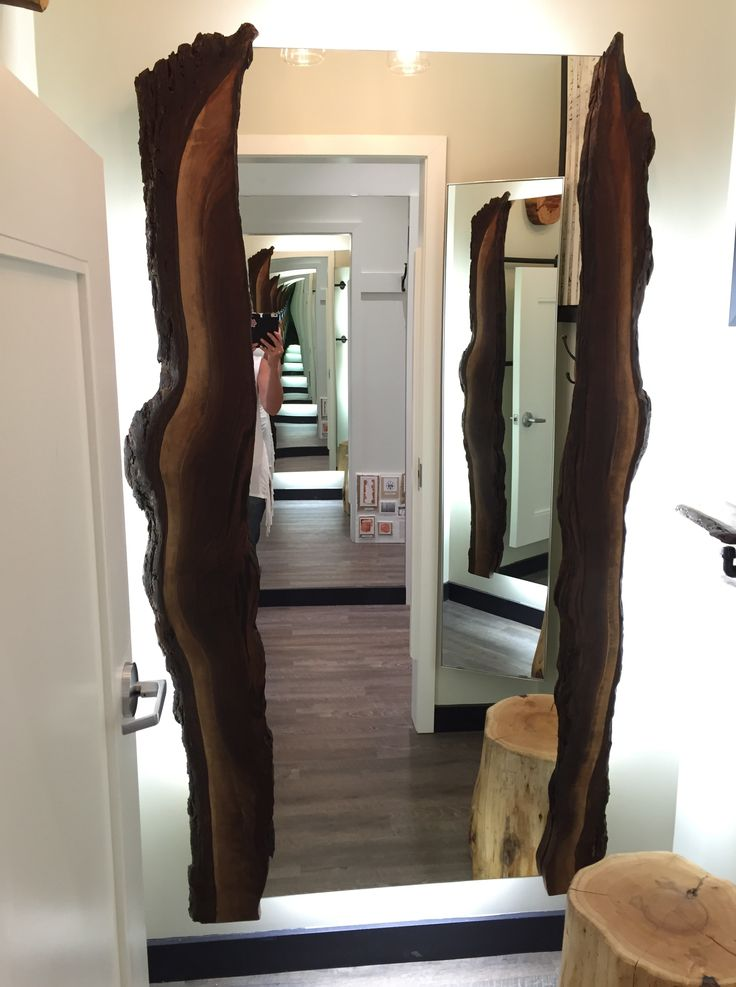 17 best images about live edge mirror log mirror rustic for Mirror hotel
