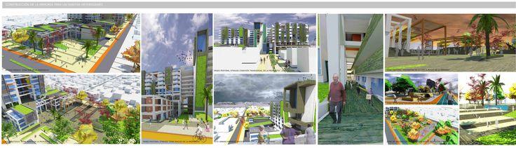Imágenes objetivo del reciclaje urbano en el espacio público.