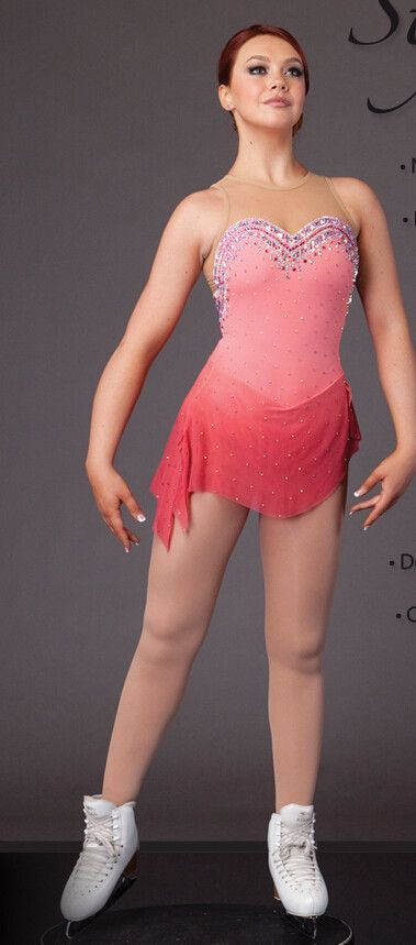 ice skating clothing for women pink figure skating clothing custom ice skating clothes free shipping hot sale ice clothing #Affiliate
