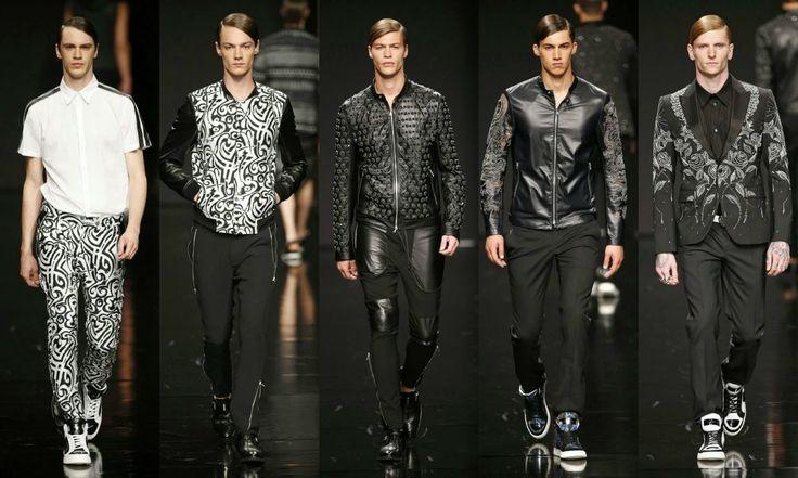 John Richmond  #Fashion #moda #men #hombre  http://cuchurutu.blogspot.com.es/2014/06/la-semana-de-la-moda-masculina-en-milan.html