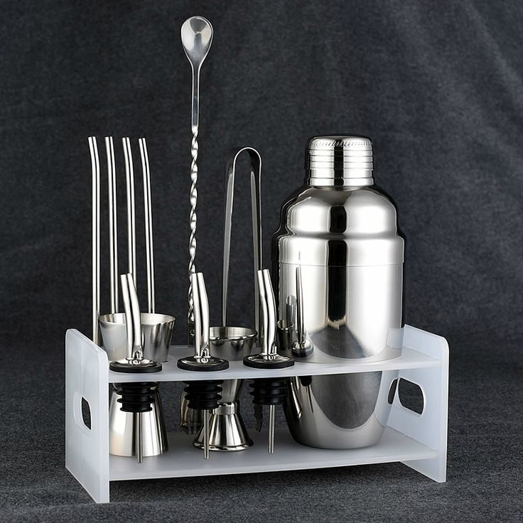 Bar Set: Premium Shaker Barware Set - 12 Pieces