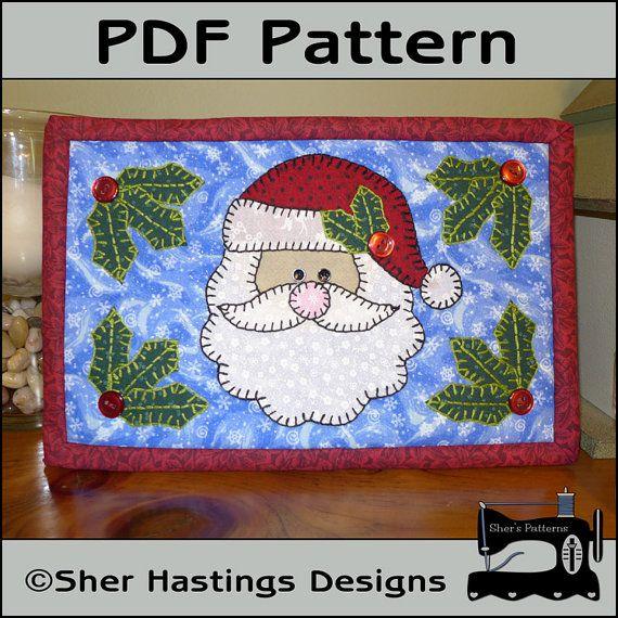 PDF Pattern for Santa Mug Rug Christmas Mug by ShersPatternShop, $3.00
