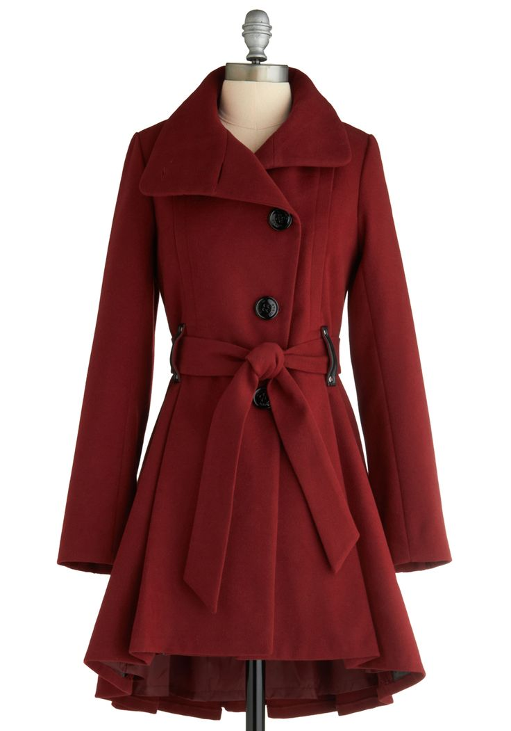 Nice belted red coat