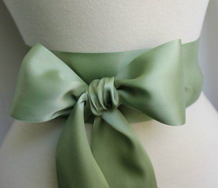 Sage Green Bow