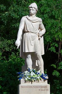 Rollo (Robert I) c. 846 – c. 931 the Viking Founder and Ruler of Normandy. Granted by King Charles III of France in the Treaty of Saint-Clair-sur-Epte : my 29x Great Grandfather