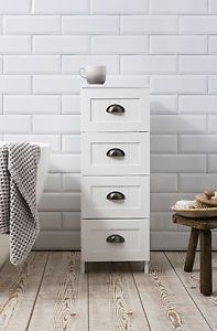 Create Photo Gallery For Website Stow Bathroom Cabinet Drawer Storage Unit IN White eBay