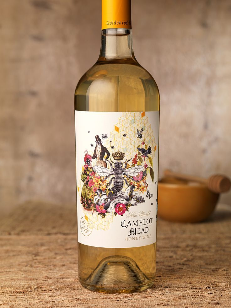 Camelot Mead Honey Wine Label Packaging Design On Behance Hair Love Nbsp Style Nbsp Beautiful Nbsp Makeup Skincare Nai Honey Wine Wine Vintage Wine