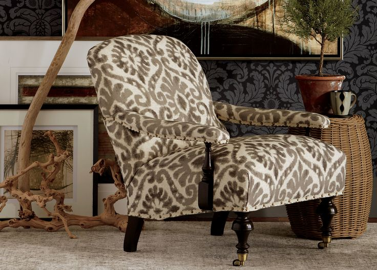 Shop Ethan Allens Collection Of Living Room Accent Chairs And Chaise In Fabric Leather Slipcover