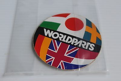 Retro Vintage WORLDPARTS Import Auto parts Sticker collectible decal - circle