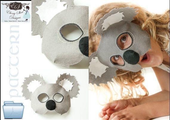 Koala Bear Mask Costume PATTERN