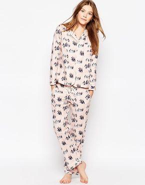 Cath Kidston Penguins Long Pajama Set