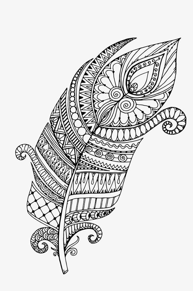 أبيض وأسود ناقلات نمط الديكور Coloring Books Mandala Coloring Pages Leaf Coloring Page