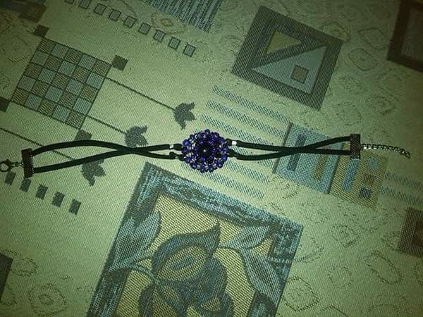 Purple-black bracelet