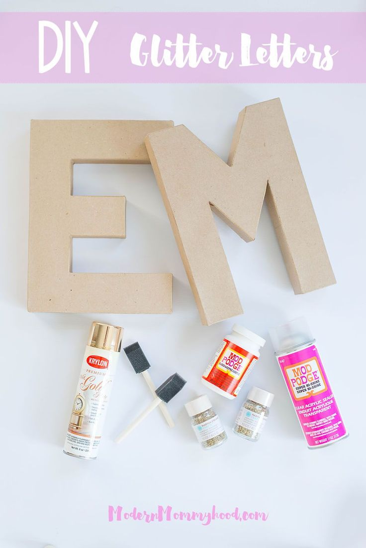 DIY Glitter Letters - A super easy tutorial to create sparkly letters for your home or nursery.