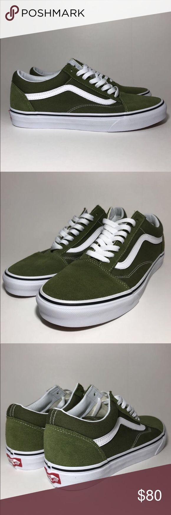 Vans Old Skool Low Brand new olive green low top old skools  Size 9   DM US ON IG FOR A CHEAPER PRICE @unboxdshop Vans Shoes Sneakers