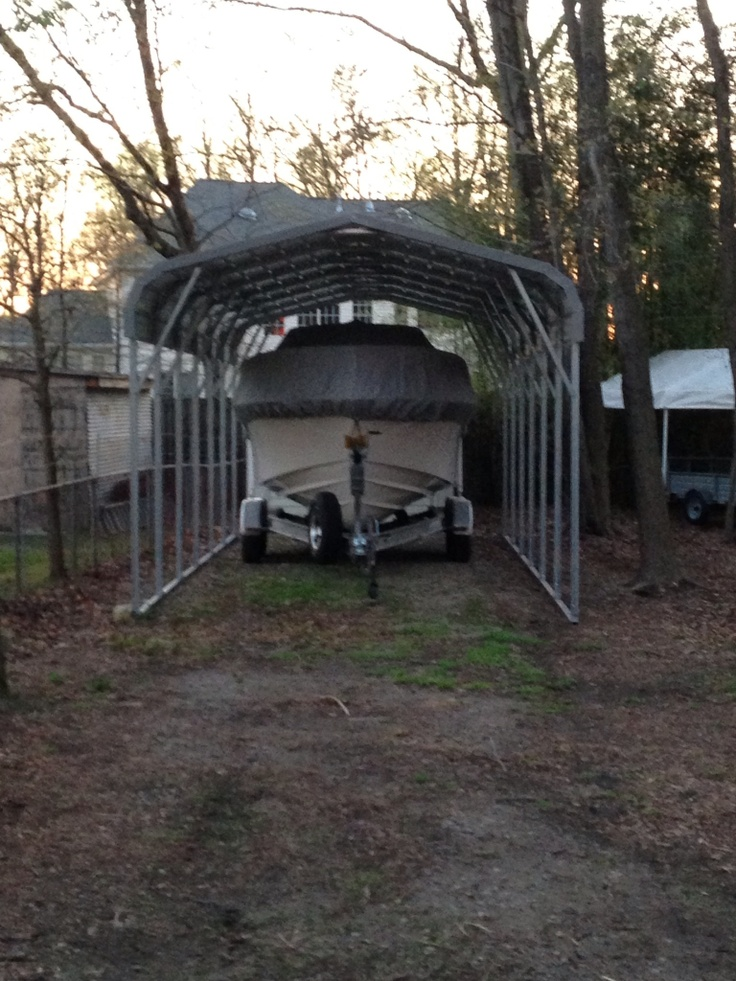 A Simple Metal Carport Without Sides With Images Metal Carports Carport Designs Carport