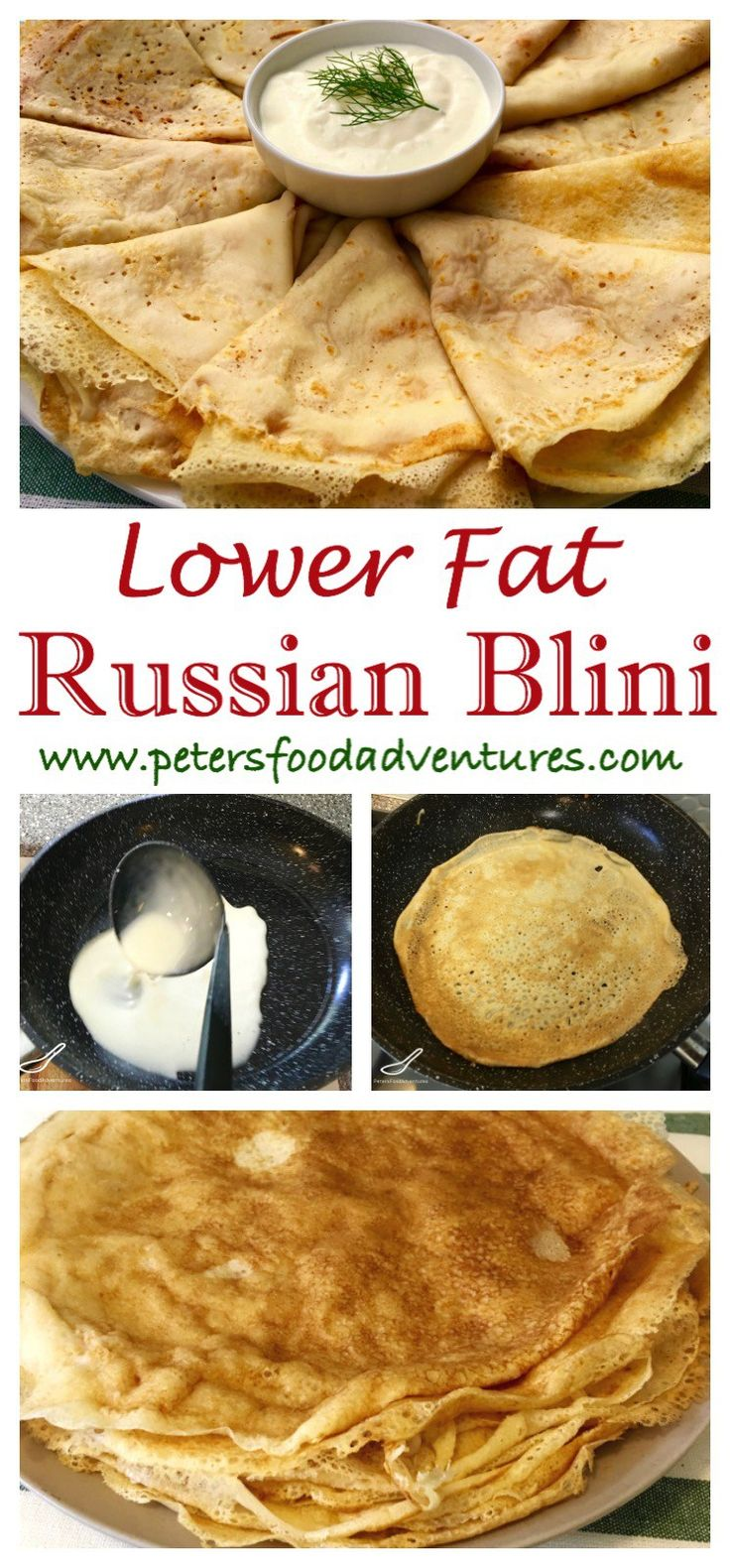These Russian Pancakes more commonly known as Blinchiki, Crepes, Blintzes or Blini are a staple food in Slavic countries. Easy Lower Fat Russian Blini (Блины)
