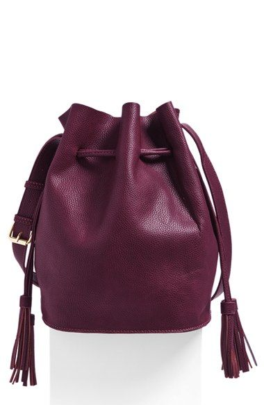 Street Level Faux Leather Bucket Bag (Online Only) available at #Nordstrom