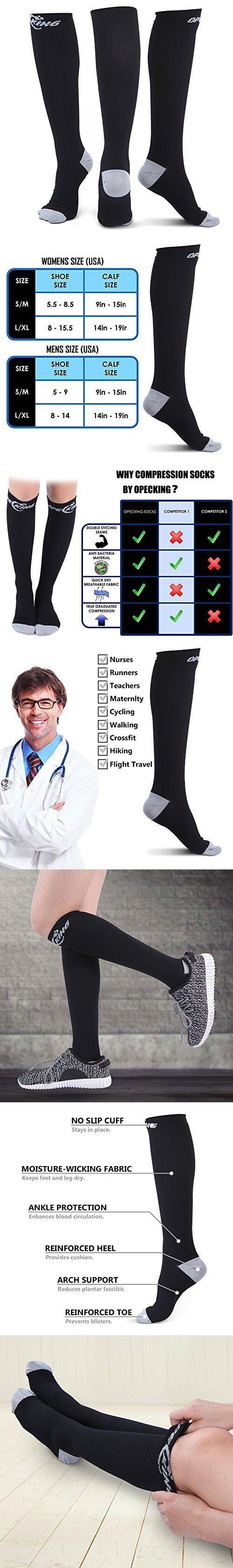 Graduated Compression Socks for Men & Women (20-30mmHg) Leg Support for Flight, Maternity, Athletics, Travel, Nurses,Trucker - Medical Care Grade for Shin Splints,Edema,Arthritis,Calf and Leg Pain