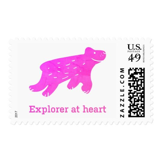 Dog stamp. Buy here: https://www.zazzle.com/explorer_at_heart_stamp-172243063110517680
