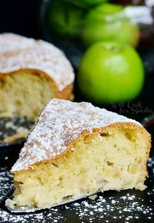 Russian Apple Cake Recipe ~ it's delicate and light. Wonderful to have with your morning tea or as an afternoon snack... Amazing!