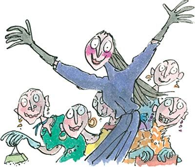 witches quentin blake illustrations