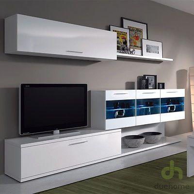 mueble de comedor salon moderno con leds