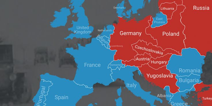World War I redrew the world map and reshaped many borders in Europe.