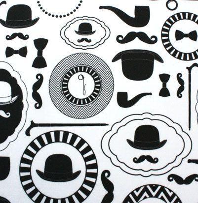 Gentlemens necessities: 4 00, Organic Cotton, Etsy, White Fabrics, Fat Quarter, Mustache, Checkout Childrens