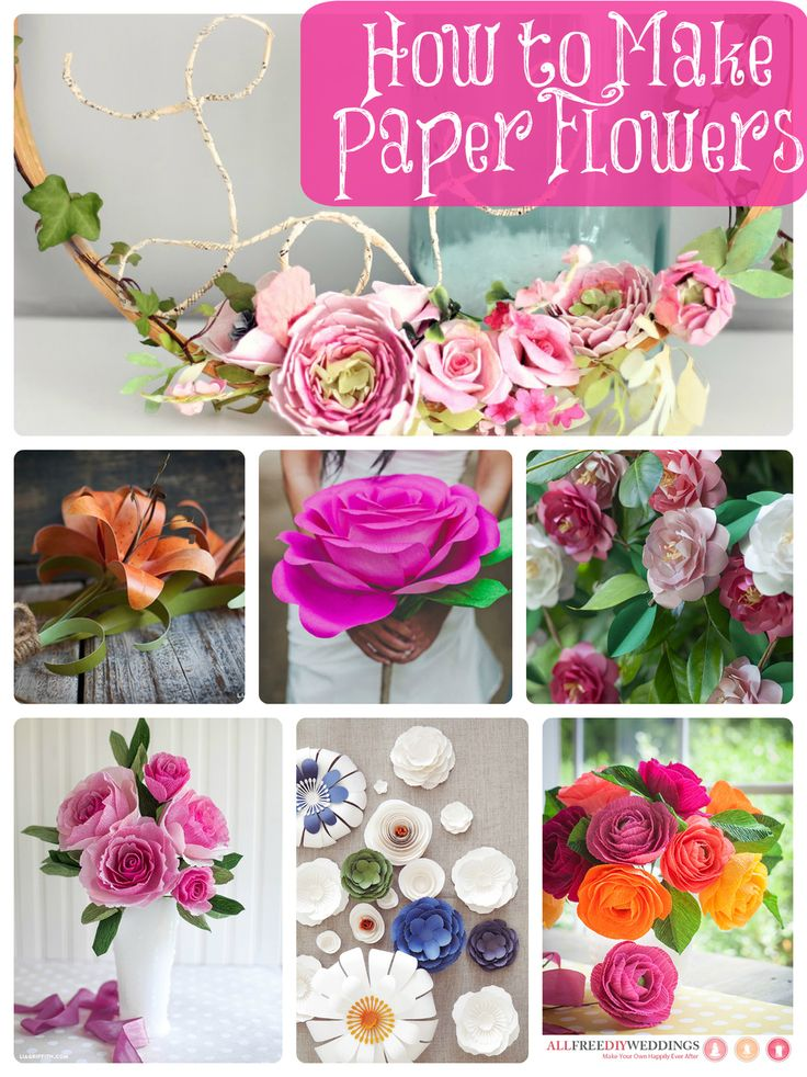 105 best how to make paper flowers paper crafts images on pinterest how to make paper flowers 40 diy wedding ideas mightylinksfo