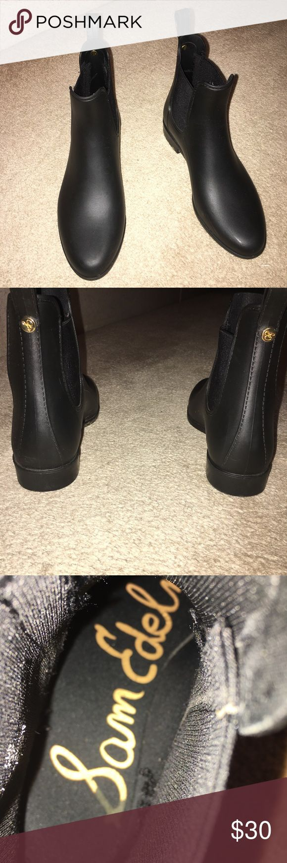 Sam Edelman Tinsley Rubber Rain Boots Sam Edelman rubber rain boots size 7 only worn a handful of times! Sam Edelman Shoes Ankle Boots & Booties