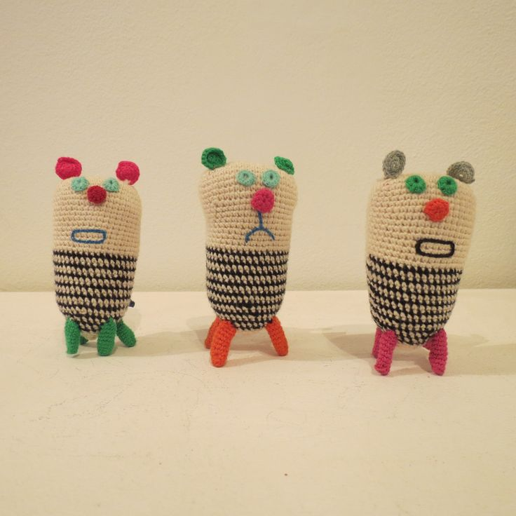 Crochet animals designed by a Cape Town-based Illustrator and crafted by a women's collective at Kim Sacks Gallery Johannesburg