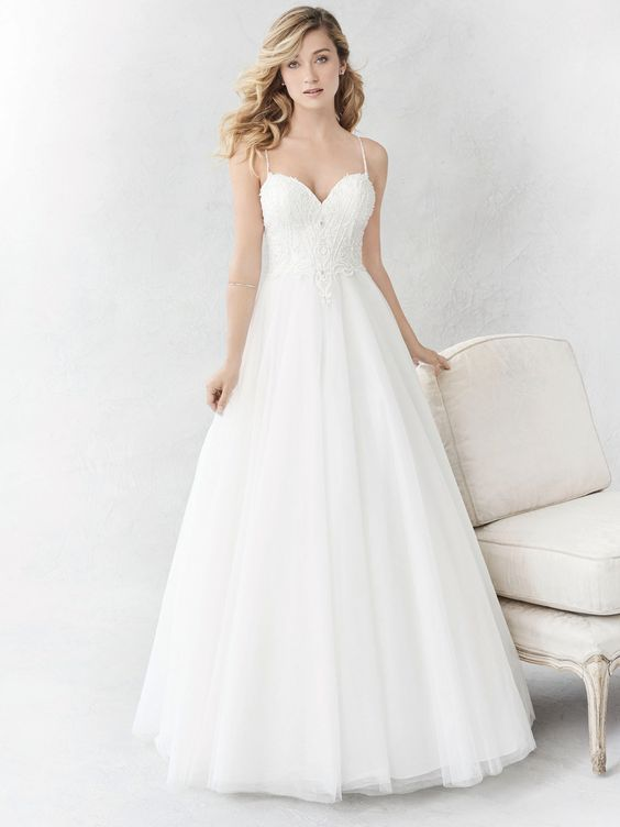 Ella Rosa Style BE359 | tulle gown with beaded bodice | romantic wedding dress | bridal gown