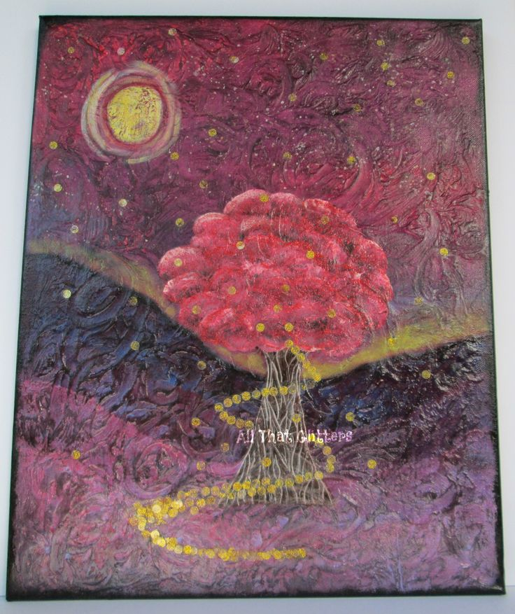 Dance of the Firefly's 16x20 mixed media   The moon is up It's getting late Let's get ready to celebrate Ooh yes it's dancing time Now all around the tree and looking so bright Flickering our lights never felt so right Ooh yes it's dancing time