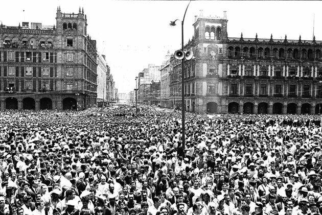 1968 27 De Agosto Tlatelolco Historia De Mexico Fotografía Antigua