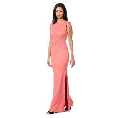 Lipsy Pink cut out scuba maxi dress- at Debenhams.com