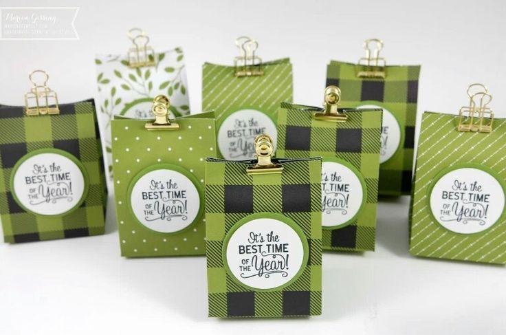 Tüten für kleine Geschenke Goodie zu Weihnachten Advent bastelideen mit Stampinup