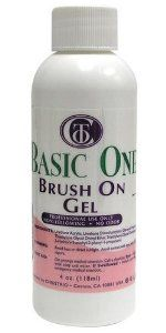 Christrio BASIC ONE Brush-On Gel - 4oz / 118ml by Christrio. $42.95. Want a permanent, yet fast topcoat? Our BRUSH-ON gel is quick, easy-to-use, remarkably shiny, requires 1 minute cure, NO SHRINKING, NO WRINKLING, and highly durable. Works great over acrylic, polish, silk, fiberglass, and extraordinary on toes! Also great as a quick touch up for gel nails or to buy time between fills!