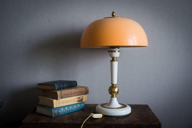 Vintage Table Lamp For Mid Century Office Decor Housewarming Gift Retro Desk Lamp Art Deco Lamp Bedside La Vintage Table Lamp Retro Desk Lamp Art Deco Lamps