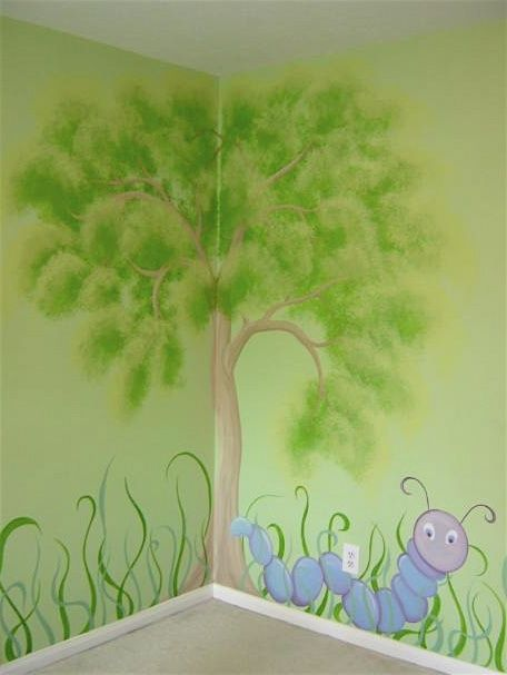 murals home-is-where-the-heart-is. This would be great for a nursery.
